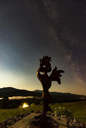 audiablevert sutton quebec canada night sky stars moon mars saturn rooster cows milkyway nikon d800 nikkor 1424mm
