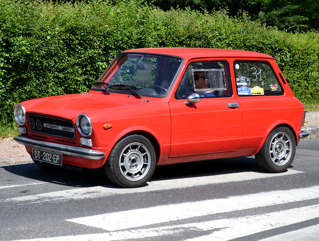 Autobianchi A112 Abarth (1971-1978) driving from the show at Maisons-Laffitte, on 2018-05-27.