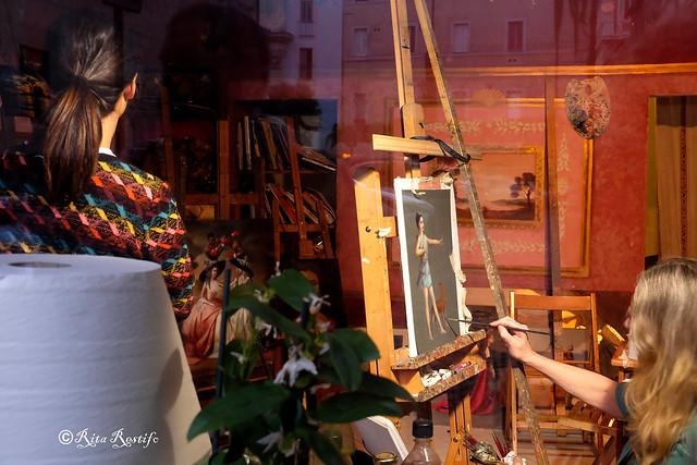 Roma. Rione Regola. Studio d'arte