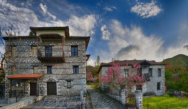 Παραδοσιακός οικισμός Ελληνόπυργος (Γράλιστα)Traditional settlement Ellinopyrgos (Gralista) panorama