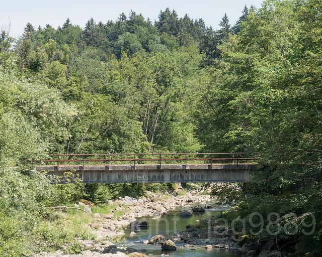 SIH270  Geissbodenstrasse Road Bridge over the Sihl River, Feusisberg, Canton of Schwyz, Switzerland