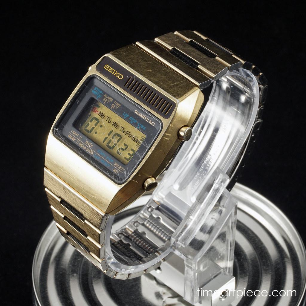538c98a41 ... Seiko A159-5019 Gold Vintage Digital LCD Quartz Watch | by TimeArtPiece