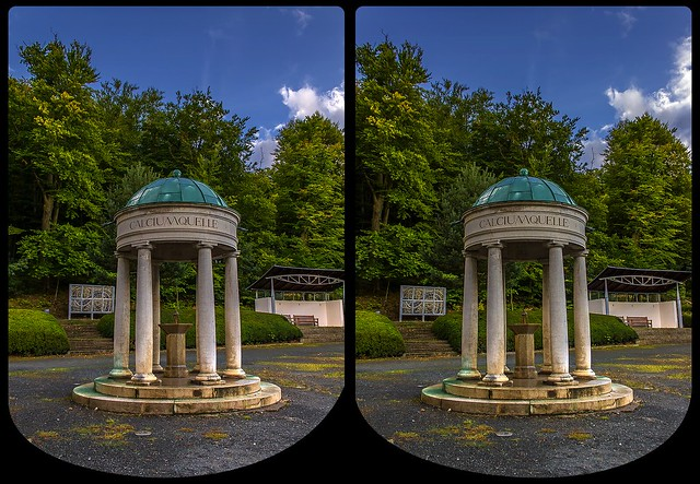 Bad Suderode Calciumquelle 3-D / CrossEye / Stereoscopy / HDRaw