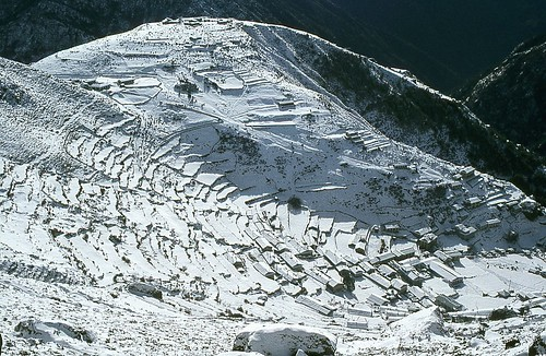 namchebazar neige snow himalaya népal montagne mountain