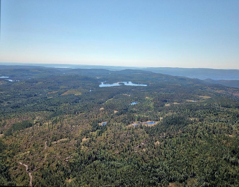 17-Utsikt mot Øyvann fra Snaukollen (drone)