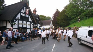Domesday Morris Dancing at the White Lion, Barthomley, Cheshire 1