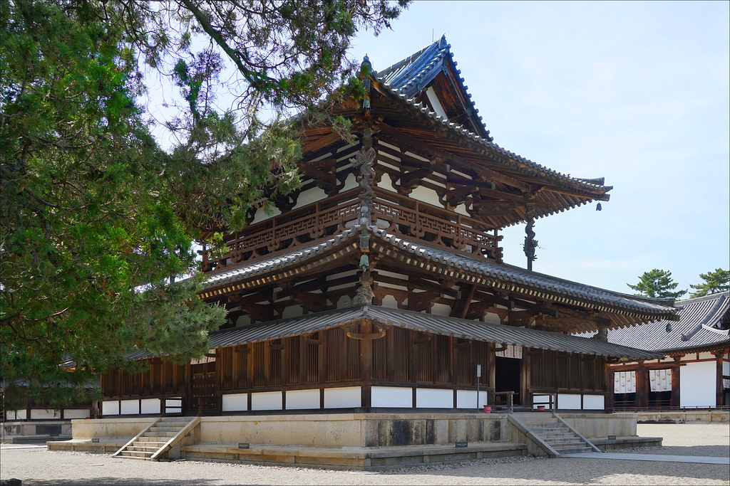 Le temple bouddhique Horyuji (Ikaruga, Japon)