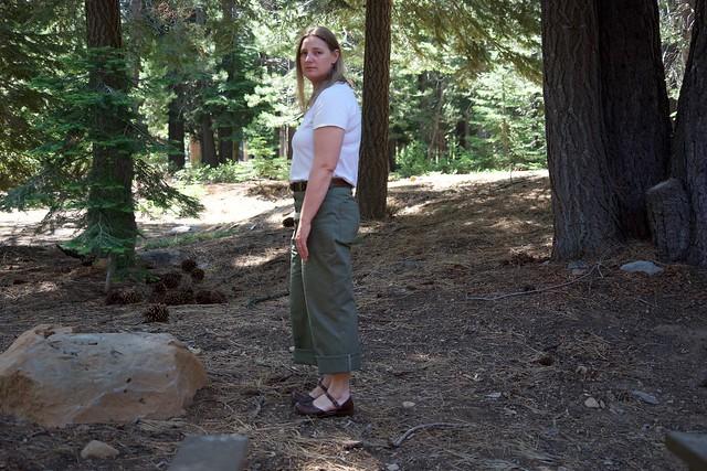 Lander pants rolled side