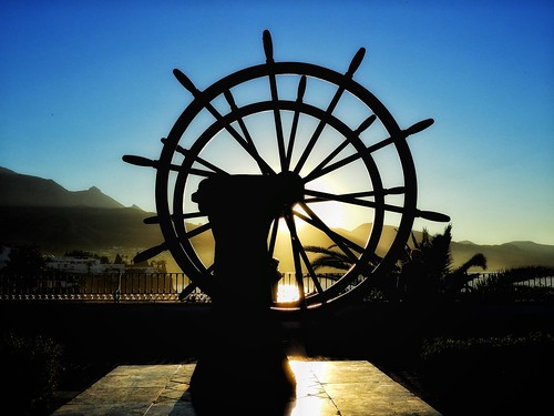 art shipswheel wheel silhouette sunny sun