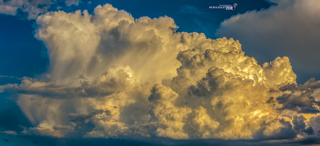 052518 - Billowing Cumulonimbus Calvus (Pano)