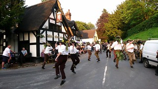 Domesday Morris Dancing at the White Lion, Barthomley, Cheshire 3