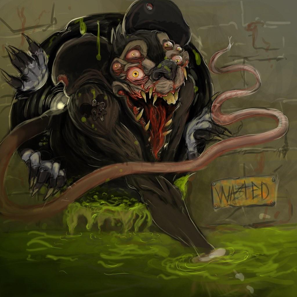 Work in progress rat king rat monster mickeymouse illustration mickey