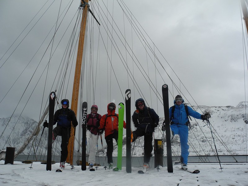 In Finnmark, we occasionally  moor up at a quay so it's ski in ski out.  What are you waiting for?