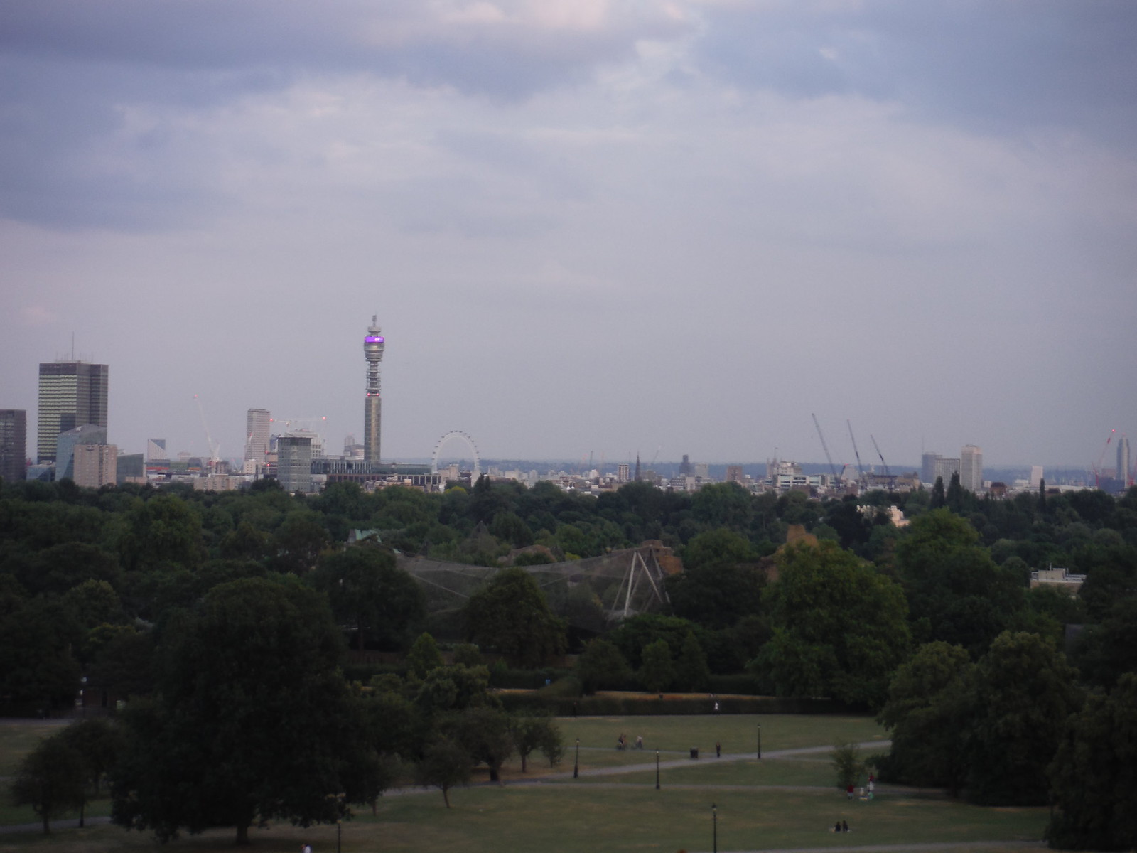 View from Primrose Hill: The West End SWC Short Walk 6 - Regent's Park and Primrose Hill