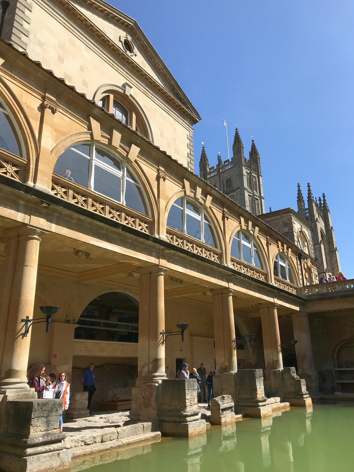 Bath, England, U.K., Baths and Abbey