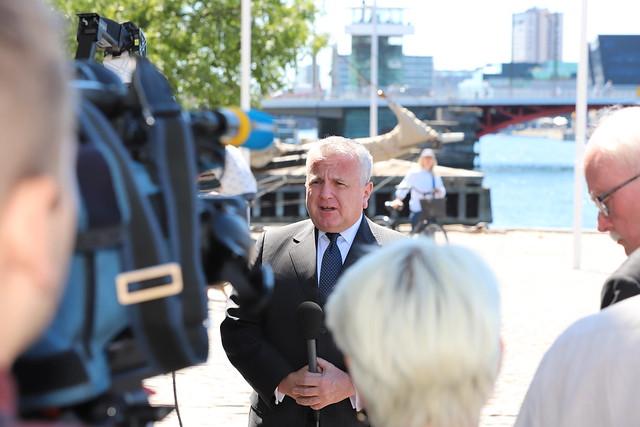 Deputy Secretary Sullivan Addresses the Press in Denmark