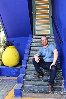 Matt on the majorelle steps | by sandrakaybee