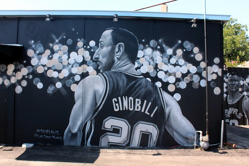 San Antonio - Thelka: San Antonio Spurs mural   by wallyg
