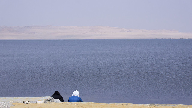 Looking at Egypt's Lake Qaron in Fayoum