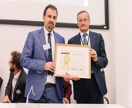 Luigi Morgano (Member of the European Parliament and Initiator of the Prize) and Sergio Cebrian Sanz