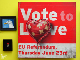 Banksy - Vote to Love | by Butterfly Art News