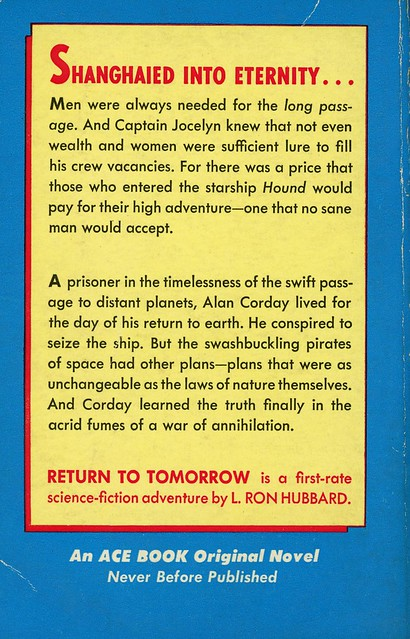 Ace Books S-66 - L. Ron Hubbard - Return to Tomorrow (back)