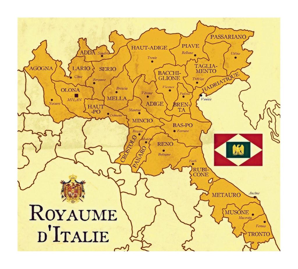 Cartina Italia 1810.Regno D Italia