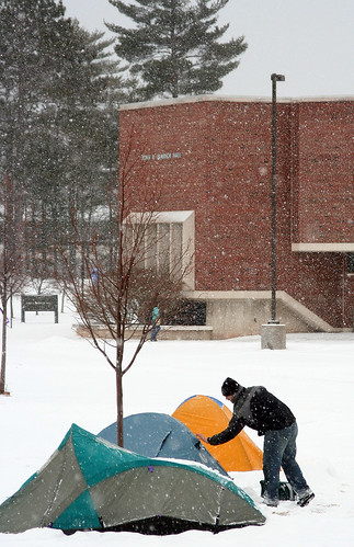 Camping on the NMU academic mall