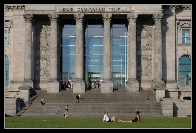 The Front of the Reichstag-Building