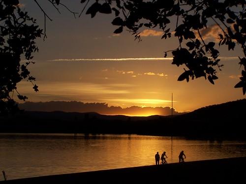 Sunset on Lake Burley Griffin - Australia