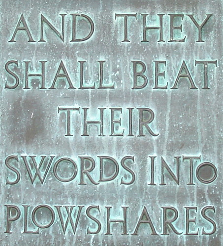 And they shall beat their swords into plowshares | by Suzie T