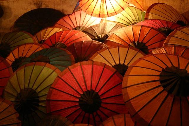 Night market in Louang Prabang, Laos.