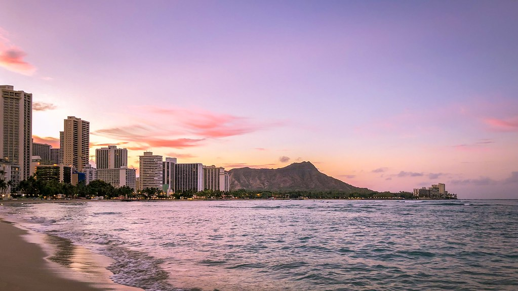 Sunrise At Waikiki Beach Honolulu Hawaii Iphone X Flickr