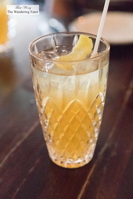 Peach iced tea made with bergamot