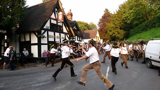 Domesday Morris Dancing at the White Lion, Barthomley, Cheshire 2