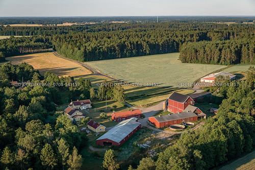 flygfoto vara gård kroken västragötaland sverige swe