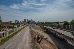 Downtown Minneapolis and I-35W Construction