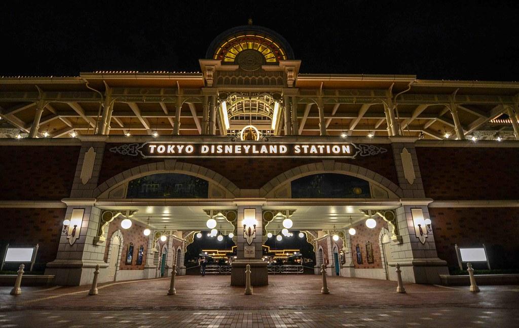 Tokyo Disneyland Station night TDR