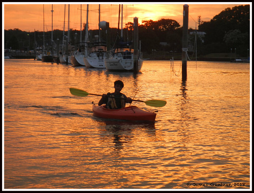 wickford rhodeisland usa kayaks sunset wickfordharbor