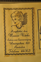 Nederland, The Netherlands, Holland, Holanda, Paises Bajos, suikerzakjes, sugarpacks, sucre dans des sacs, azucar en saquitos, Maison Klerks, salons voor haarverzorging, Weteringschans 169, Amsterdam,