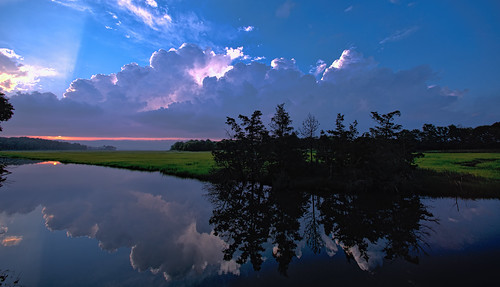 canarycreek clouds greatmarsh lewes storm sunset topaz delaware unitedstates us