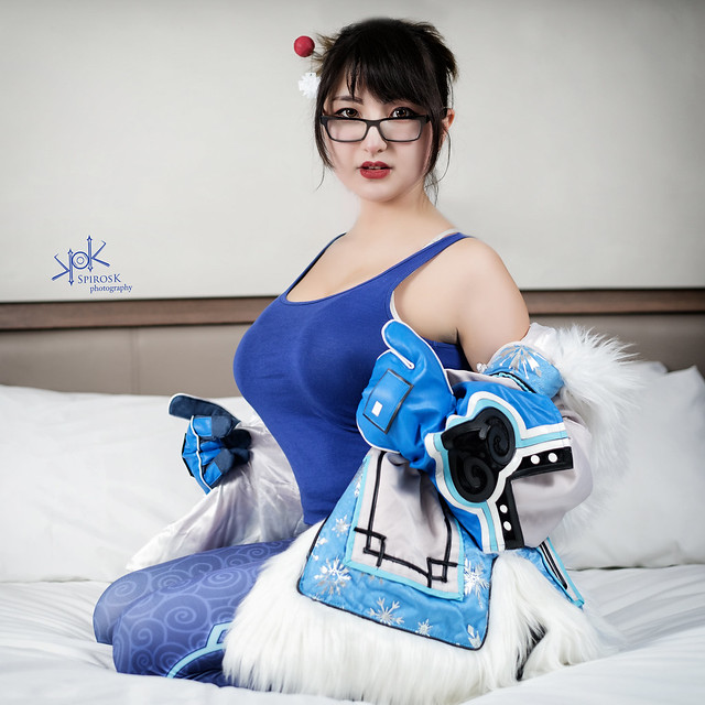 Mei from Overwatch: getting cosy! (by SpirosK photography and Maya Cosplay)