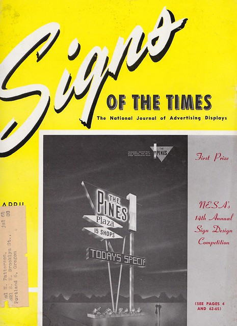 Signs of the Times magazine cover - April 1960