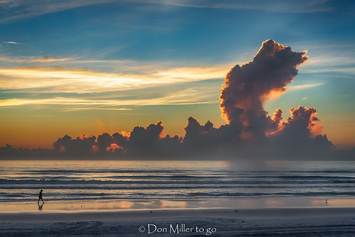beachphotography atlanticocean sunrise water daytona outdoors skypainter sky florida clouds