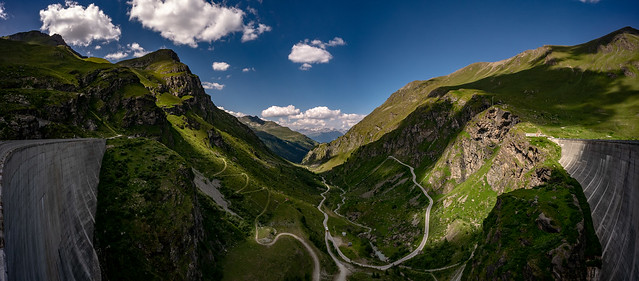 View from Moiry Barrag Pano
