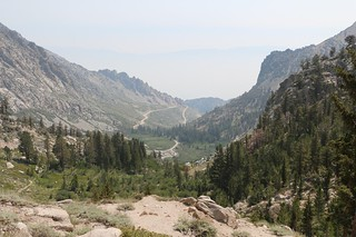 0044 Looking back down at the Onion Valley parking lot as I climbed higher on the Kearsarge Pass Trail | by _JFR_