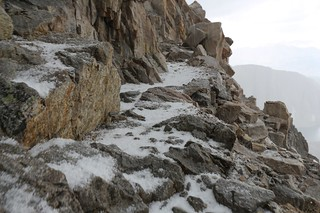 1693 The footing gets trickier as the hailstones get deeper on the John Muir Trail near Mount Muir   by _JFR_