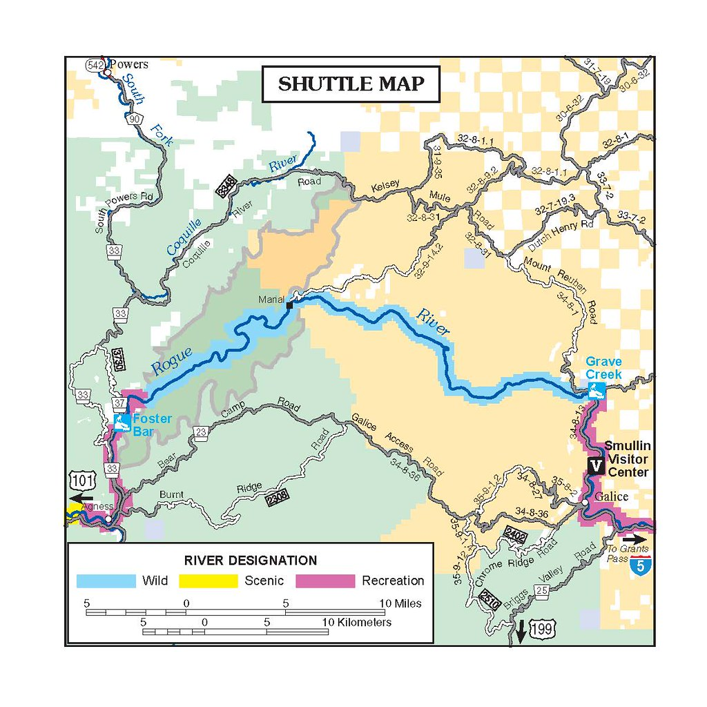 Rogue River Oregon Map Rogue River Shuttle Map | It is our privilege to jointly man… | Flickr