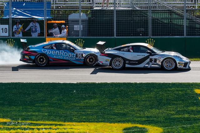 Coupe Porsche GT3 - Ça ne freine pas...