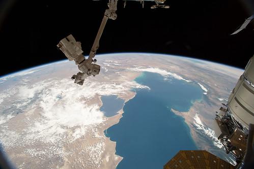 The Canadarm2 and the Caspian Sea | by NASA Johnson